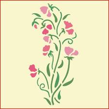 SWEET PEA STENCIL - FLOWER STENCIL - The Artful Stencil