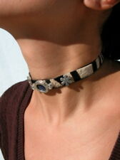 Moody Girl Choker with One Moodstone - Necklace with Moodstone
