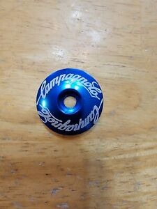 "Campagnolo Repop Bicycle Headset Top Cap 1 1/8"" Blue Stem Cap Road Bike Campy"