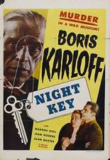 NIGHT KEY Movie POSTER 27x40 C Boris Karloff Jean Rogers Warren Hull Samuel S.