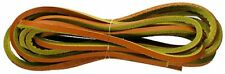 County Tan Leather 3.5mm Square Shoe / Boot Laces Thongs Extra  Strong 120cm