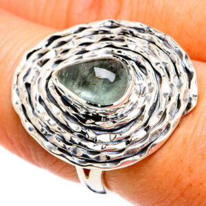 Aquamarine 925 Sterling Silver Ring Size 7.25 Ana Co Jewelry R80487F