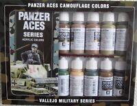 VAL70179 - AV Vallejo Model Color Set - Panzer Aces Camouflage Colours (x16)