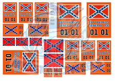 Dukes of Hazzard - General Lee | Waterslide Decals in all Popular Model Scales