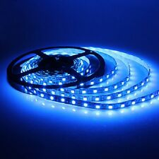 STRISCIA A LUCE LED BLU SMD 5050 STRIP 5 METRI 300 LED IMPERMEABILE ESTERNO SC0