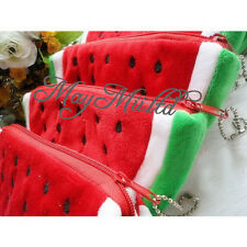 New Plush Red Watermelon Coin Purse Wallet Pouch Bag S