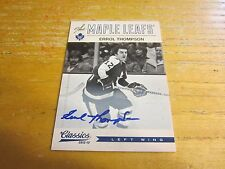 Errol Thompson 2012-13 Classics Signatures Autographs #23 Card NHL Maple Leafs