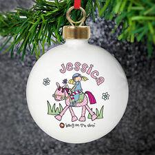 Personnalisé bang on the door pony girl arbre de noël babiole-nom et message