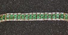 Harry Ivens Armband Silber 925 vergoldet mit Smaragd 19 cm