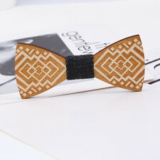 Simple Fashion Handmade Wooden Bowtie Wood Bow Ties Men's Gifts Wedding Party US