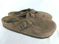 Birkenstock Boston Brown Leather Mules Clogs Shoes Size: 40 / 9