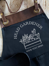 Personalised Head Gardener Apron - Gardening Gift for Him or Her