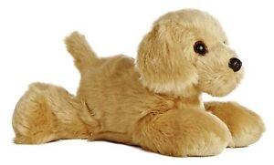 NEW AURORA 20cm GOLDEN LABRADOR RETRIEVER CUDDLY SOFT STUFFED TOY DOG TEDDY