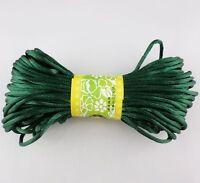20M 3mm Hot Chinese Knot Satin Nylon Braided Cord Macrame Beading Rattail Cords