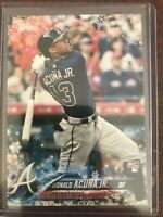 Ronald Acuna Jr RC 2018 Topps Update Holiday Snowflake Rookie #HMW50 RC Braves