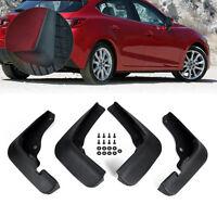 Hot Rubber MUD FLAPS FLAP SPLASH GUARDS MUDGUARD For Mazda 3 M3 Axela 2014+