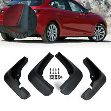 Hot Rubber MUD FLAPS FLAP SPLASH GUARDS MUDGUARD For Mazda 3 M3 Axela 2014+