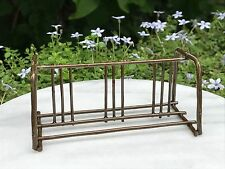 Miniature Dollhouse FAIRY GARDEN ~ Mini Rustic Antiqued Metal Bicycle Bike Rack