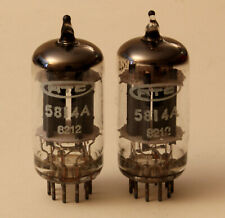 PAIRE DE DOUBLE - TRIODE 5814A NEW & MATCHED  - same batch 1982 RTC ( France )