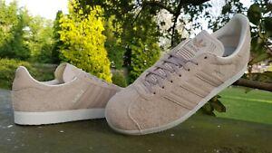 Adidas Originals Gazelle Trainers  Beige Nude BNIBWT All Sizes 6 7 8 9 10 11 12