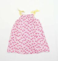 Bluezoo Girls Graphic Pink Strappy Flamingo Dress Age 3-4 Years
