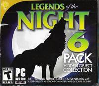 Legends of the Night 6 Pack Hidden Object Collection PC Games Brain Games