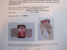 #149 ladys 14K gold bi-color ametrine (amethyst/ citrine) 18 diamond ring