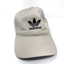 Vintage Adidas Strap Back Dad Hat Tan Beige Trefoil