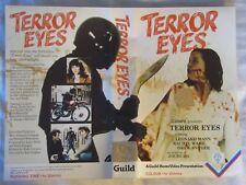 TERROR EYES GUILD PRE CERT BIG BOX EX RENTAL VHS PAL DPP72 VIDEO NASTY UNCUT