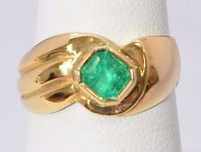 2521- *18K YELLOW GOLD WITH EMERALD 4.90 GRAMS SZ 6 3/4  RING