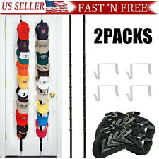 2Packs Baseball Cap Hat Holder Rack Storage Organizer Over the Door Hangers