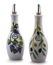 Bassano Essig & Öl Set Aceto e Olio Ausgefallene italienische Keramik 0,5l