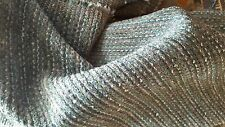 Gray Teal Aqua Woven Chenille 2 yrd.pc. Upholstery Fabric
