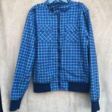 H & M boys Blue Pleaded bomber jacket size 14 Y Waterproof Light Weight