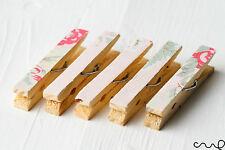 Set of 5 Cath Kidston Vintage Floral Fabric Covered Pegs Fridge Magnet Handmade