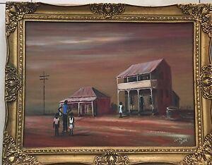 John John~Listed Artist~Collectable original painting~vintage framed