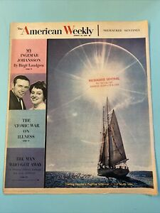 1959 August 16 AMERICAN WEEKLY MAGAZINE Jack Fields Cover Ingemar Johansson