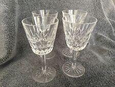 WATERFORD CRYSTAL LISMORE CLARET WINE GLASSES SET OF 4
