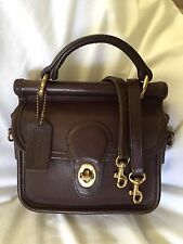 Authentic Vintage Coach Winnie aka Mini Willis Crossbody Bag in Mahogany Brown