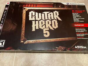 PS3 Guitar Hero 5 PlayStation Guitar Kit Never used brand new