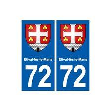 72 Étival-lès-le-Mans  blason autocollant plaque stickers ville droits
