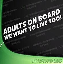 Adults On Board Funny Car sticker VW JDM Euro Bumper Window Decal Child On Board