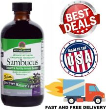 ELDERBERRY SYRUP 8 fl oz Liquid Black Elderberry Extract Supports Healthy Immune