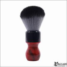 Shaving Brush, Maggard Razors 24mm Timberwolf, Red with Black Swirl