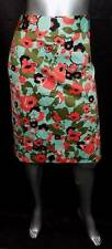 LANE BRYANT NEW Orange/Green Floral Print Straight/Pencil Skirt sz 28 28W
