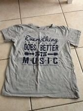 t shirt gris 11 12 Ans