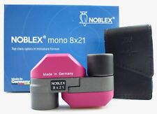 Noblex Fernglas Mono 8x21 C purpur mit Tasche made in Germany