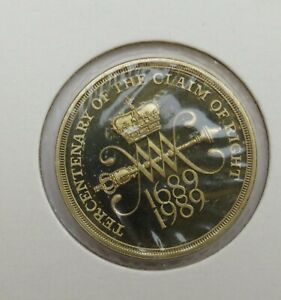 1689-1989 Tercentenary Of The Claim Of Rights Commemorative £2 Coin.