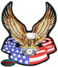 EAGLE BANDIERA Patch Toppa Biker Moto Rocker Adler Harley USA Club