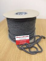BLACK GLASS FIBRE Sealing Rope -6mm  woodburning Stove Rope - Fire  - Door Seal